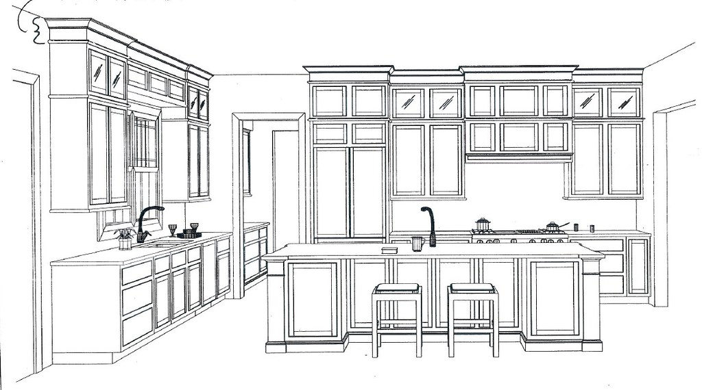 How big is your new kitchen a poll for Kitchen plans with island and pantry