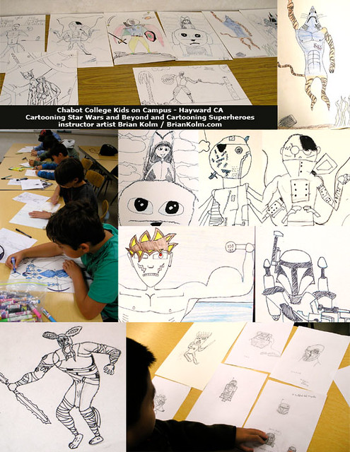 Chabot College Kids on Campus 2012 - Summer Cartooning Classes