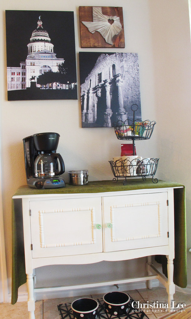 Christina lee home texas style coffee bar christina lee for Coffee bar furniture