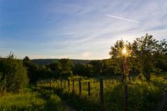 Coucher de soleil au Mont Saint Quentin