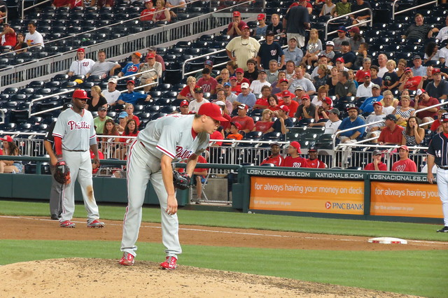Phillies closer Jonathan Papelbon closing out the game from Flickr via Wylio