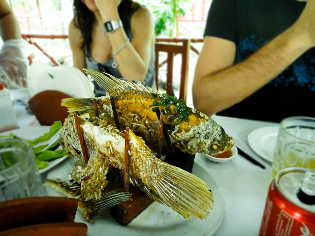 Fried fish on pole - Vietnamese Food continues...