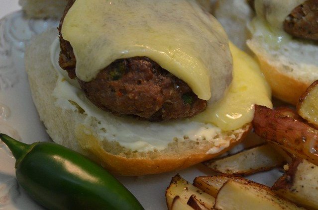 Jalapeno Burgers with Cabot on Top
