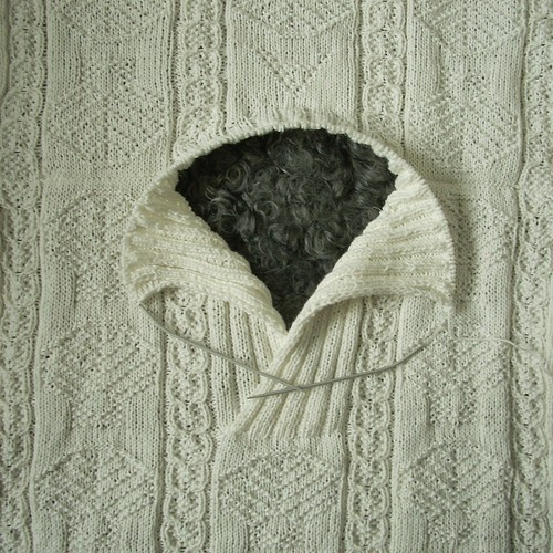 """Shells"" sweater in progress: collar by Asplund"