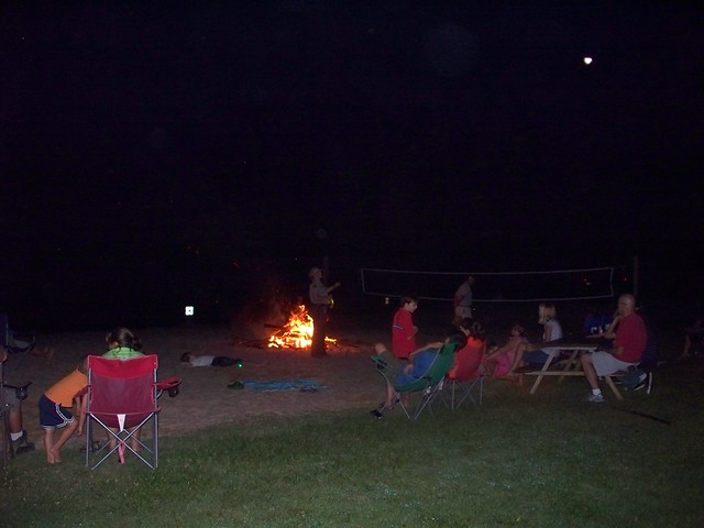 Bonfire on the Beach at Holliday Lake State Park