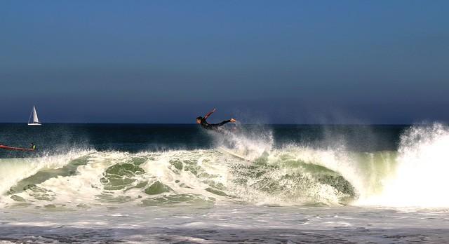 hossegor surf session jolie plongeon