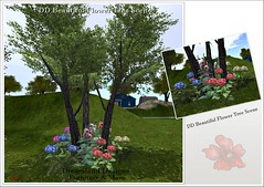DD Beautiful Flower Tree Scene Vendor
