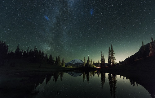 Tipsoo Lake at Night (Mt Rainier NP, WA)
