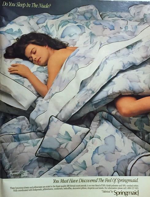 Springmaid bedding ad 1988