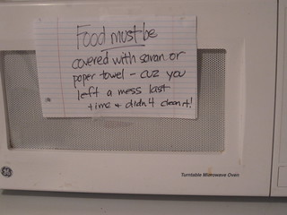 domestic reminders to my family!