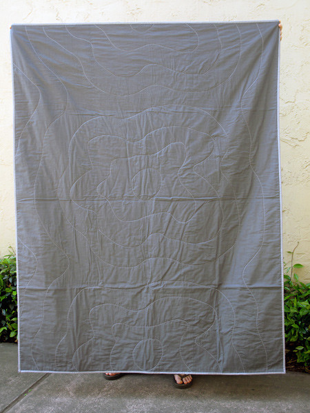 Back of Poppy Quilt #2 with light binding