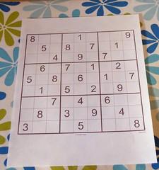 sudoku paper puzzle