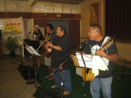 Worship team: (left to right) Kila, Dennis, James, Neil