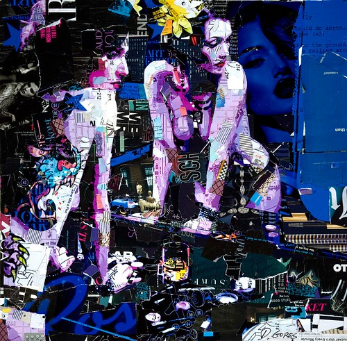 Derek Gores 'Could Do Anything' - collage on canvas - featured in Thinkspace's curated show at Spoke Art in SF, CA opening on May 3rd by thinkspace_gallery
