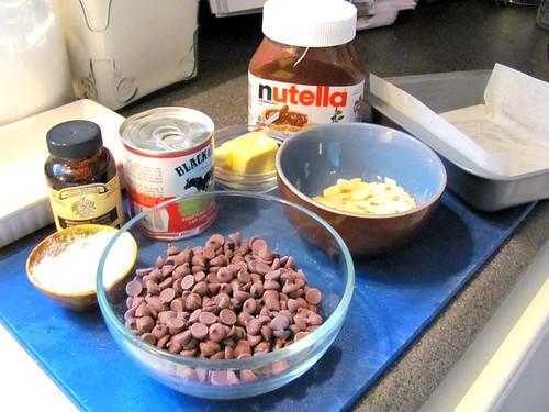 Nutella Fudge with Almonds and Fleur de Sel