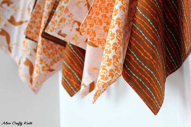 Mendocino Handkerchiefs - Hanging