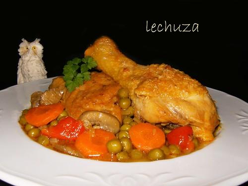 Pollo a la primavera-otro plato.