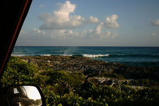 Waves near Cozumel Mexico