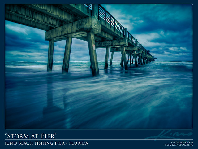 Stormy morning at juno beach fishing pier captainkimo for Juno fishing pier