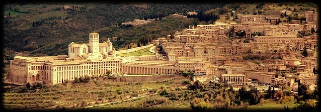 Basilica di San Francesco, Assisi bird's eye view