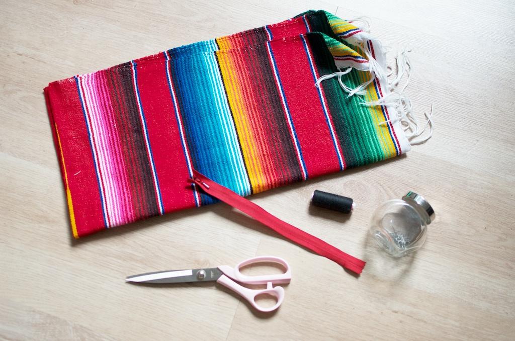 diy mexican rug skirt 1