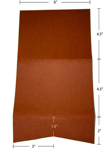 Pocket fold card dimensions