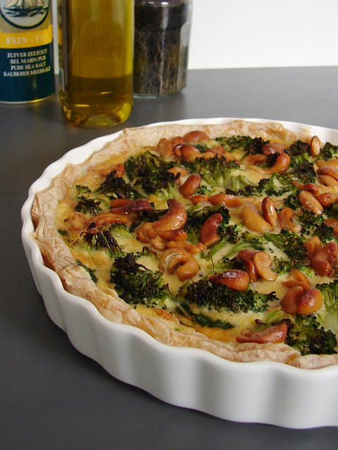 Broccoli-spinazie quiche