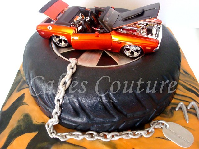 Muscle Car Wedding Cake Toppers
