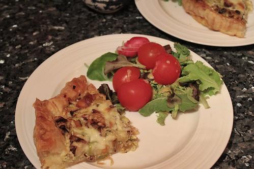 Bacon, Mushroom & Leek Quiche