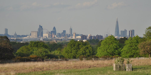 City skyline and Shard from Sawyer's Hill