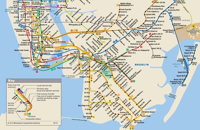Nyc Subway Map Fron Flatbush No2 Train To Queens Jamaica Vanwick Stn.Second Ave Sagas Page 165 Of 540 A New York City Subway Blog