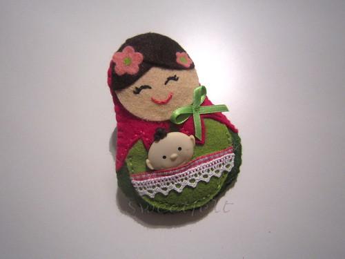 ♥♥♥ Mamãtrioska... by sweetfelt \ ideias em feltro