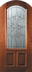 New Orleans Decorative Glass Arch Top Arch Lite Mahogany Entry Door  Tall 80 P15142A-G