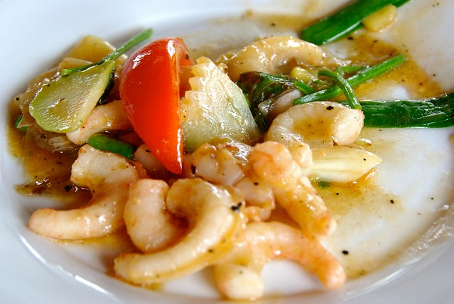 Vegetarian Squid in Halong Bay