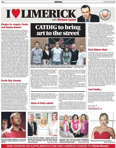 I Love Limerick Chronicle Column 8 May 2012