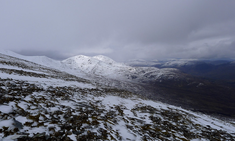 Wintry light over the Strathfarrar Munros