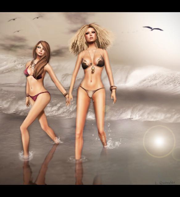 Lila & Kae Baiastice Mesh Swiwear Part 2