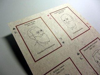 History of Psychology Poker Cards