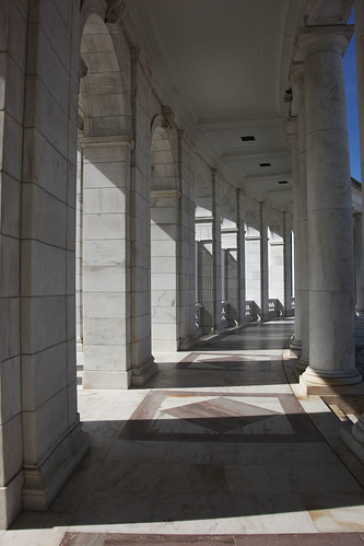West Colonnade - interior - Memorial Amphitheater - Arlington National Cemetery - 2012-05-19