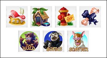 free Diamond Dogs slot game symbols