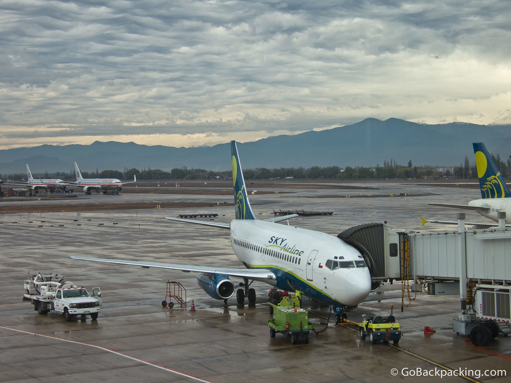 My Sky Airlines plane at Santiago's International Airport