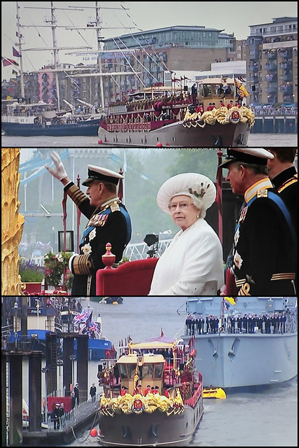 Jubilee pageant - collage from BBC1