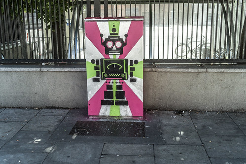 """Bolt On"" The Robot - Street Art On Bolton Street (Anna Doran) by infomatique"