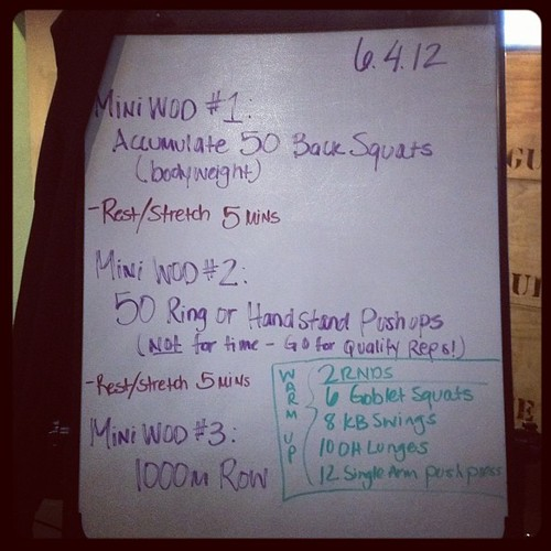 "I may have ""lost"" some weight so I could do this without dying. Heh. #wod #crossfit"