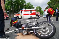 Verkehrsunfall mit Motorrad 2.Ring 04.06.12