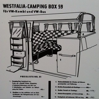Started it all. Westfalia Camping Box.