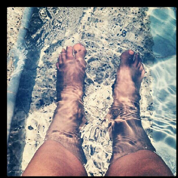soaking my poor injured foot