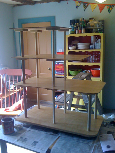 varnishing my new shelf!