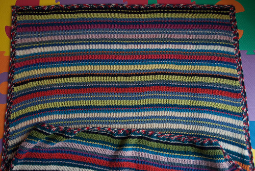 Blanket ready for blocking