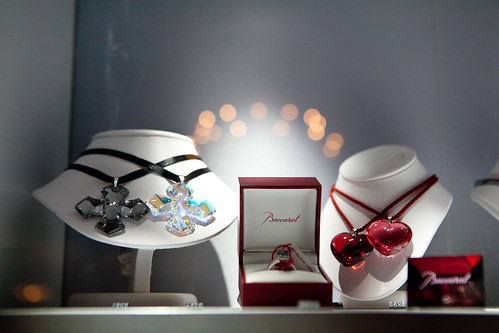 Baccarat crystal pendants and rings